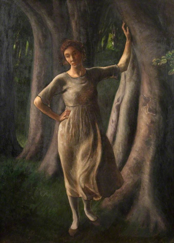 Painting of Isobel Sayers as a young woman