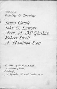 Catalogue of Paintings and Drawings 1921  Edinburgh 002