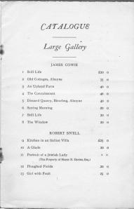 Catalogue of Paintings and Drawings 1921  Edinburgh 003