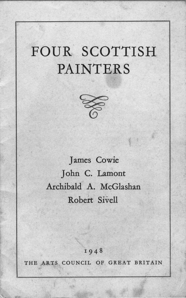 Four Scottish Artist 1948 Exhibit Catalog p 1