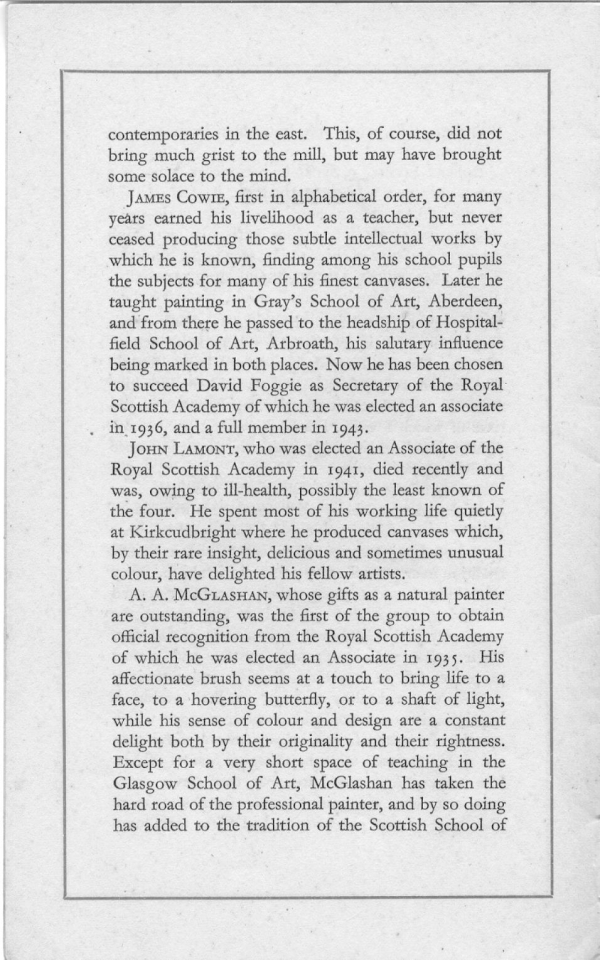 Four Scottish Artist 1948 Exhibit Catalog p 3