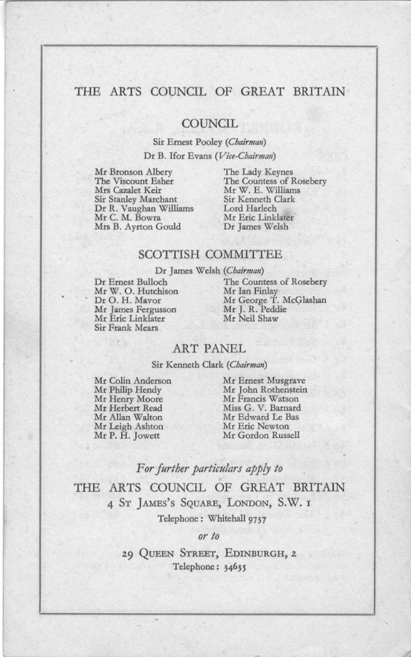 Four Scottish Artist 1948 Exhibit Catalog p 9