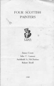 Four Scottish Artist 1949 Ireland Exhibit Catalog  p1
