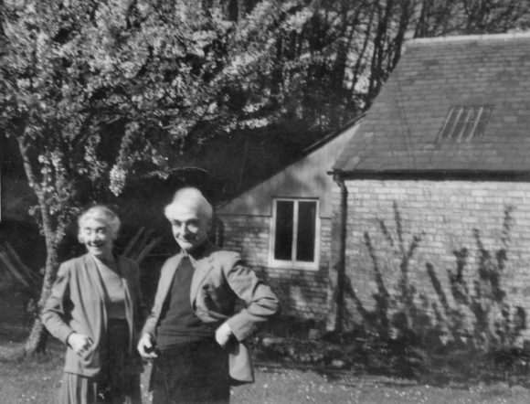 Photo of the artist & his wife, taken at their home.
