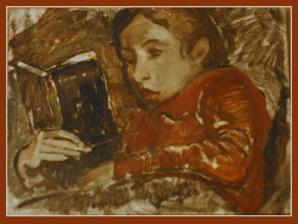 Elspeth: Sketch with Book
