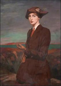 Woman in Hat: portrait of Agnes Sivell, in the Paisley Art Gallery collection.