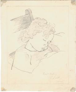 Elspeth Sleeping, signed with title